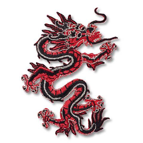 Applikation Asien Drache rot/schwarz kaufen im Makerist Materialshop