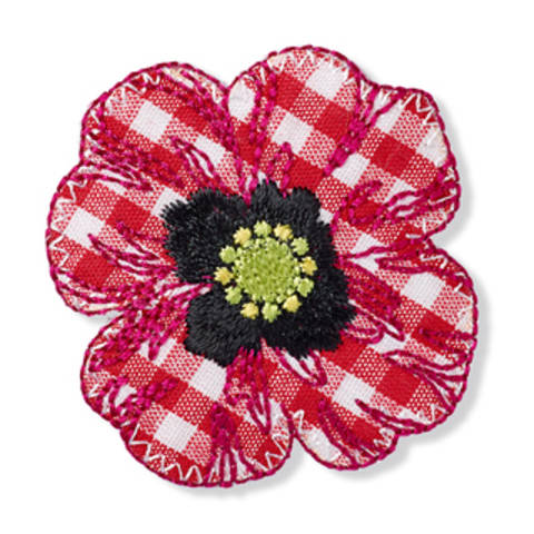 Applikation Blume Landhaus rot/weiß kaufen im Makerist Materialshop