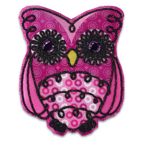 Applikation Eule pink/schwarz kaufen im Makerist Materialshop