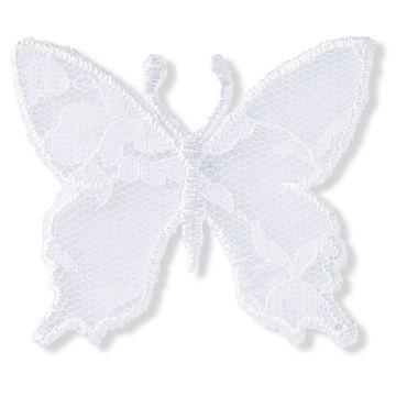 Applikation Schmetterling Spitze weiß - Kurzwaren und Zubehör kaufen im Makerist Materialshop