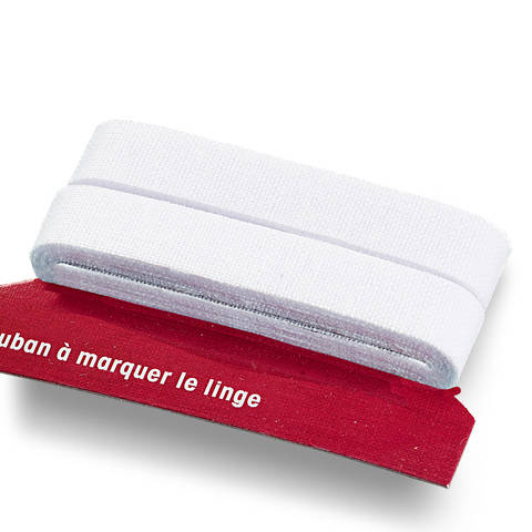 Wäschemarkierband CO aufbügelbar 11 mm weiß kaufen im Makerist Materialshop