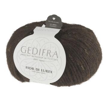 Fior di Lurex von Gedifra - 00807 dunkelbraun gold - Wolle und Garn kaufen im Makerist Materialshop
