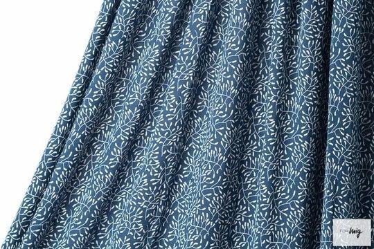 Dunkelblauer Modalstoff lillestoff: Sensitive - 150 cm - Stoffe kaufen im Makerist Materialshop