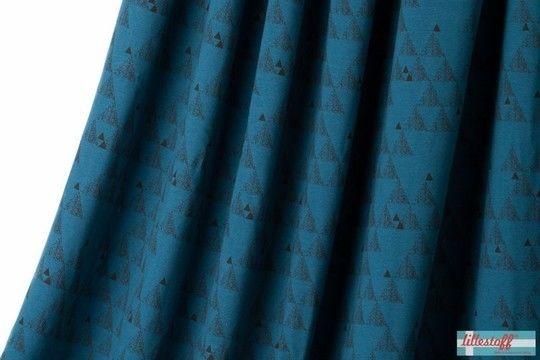 Türkisfarbener Bio-Jersey lillestoff: Shark Geo - 150 cm - Stoffe kaufen im Makerist Materialshop