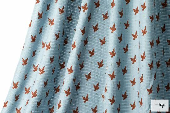 Hellblauer Bambusstoff lillestoff: Peace - 130 cm - Stoffe kaufen im Makerist Materialshop