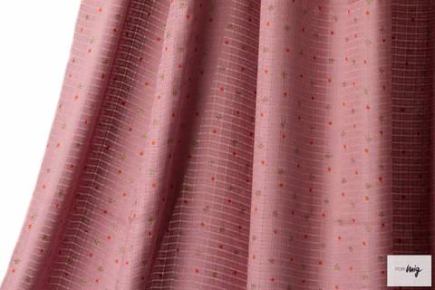 Altrosafarbener Bambustoff lillestoff: Stars - 130 cm kaufen im Makerist Materialshop