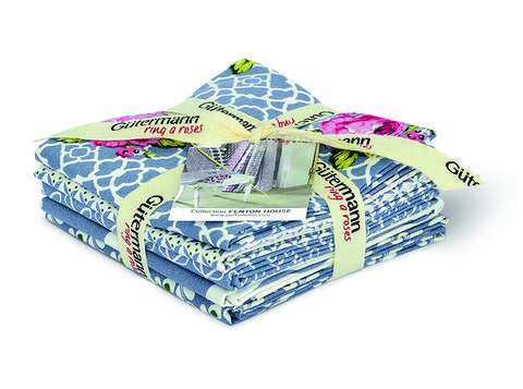 Fat Quarter Bundles von Gütermann creativ: Fenton House - col.2 blau/weiß kaufen im Makerist Materialshop