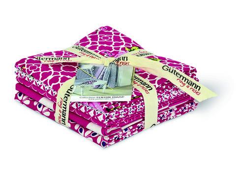 Fat Quarter Bundles von Gütermann creativ: Fenton House - col.3 pink/weiß kaufen im Makerist Materialshop