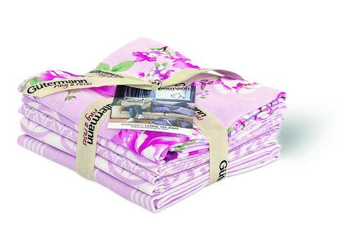 Fat Quarter Bundles von Gütermann creativ: Long Island - col.1 rosa/weiß kaufen im Makerist Materialshop