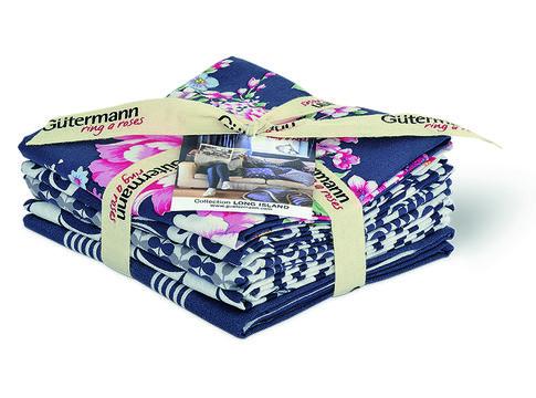 Fat Quarter Bundles von Gütermann creativ: Long Island - col.2 blau/weiß - Stoffe kaufen im Makerist Materialshop