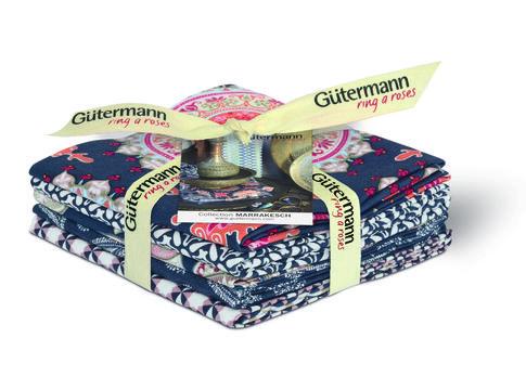Fat Quarter Bundles von Gütermann creativ: Marrakesch - col.1 blau - Stoffe kaufen im Makerist Materialshop