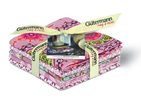 Fat Quarter Bundles von Gütermann creativ: Marrakesch - col.3 rosa kaufen im Makerist Materialshop