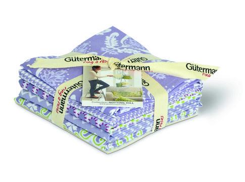 Fat Quarter Bundles von Gütermann creativ: Notting Hill - col.2 violett/weiß - Stoffe kaufen im Makerist Materialshop