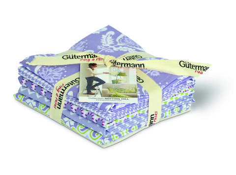 Fat Quarter Bundles von Gütermann creativ: Notting Hill - col.2 violett/weiß kaufen im Makerist Materialshop