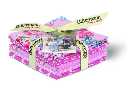 Fat Quarter Bundles von Gütermann creativ: Portofino - col.1 rosa - Stoffe kaufen im Makerist Materialshop