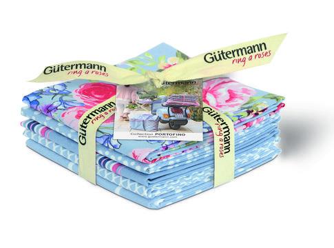 Fat Quarter Bundles von Gütermann creativ: Portofino - col.2 blau - Stoffe kaufen im Makerist Materialshop