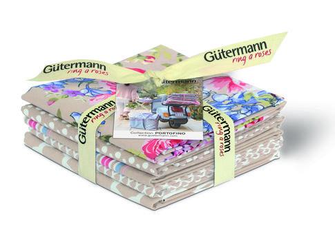 Fat Quarter Bundles von Gütermann creativ: Portofino - col.3 beige - Stoffe kaufen im Makerist Materialshop