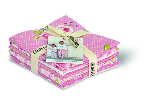 Fat Quarter Bundles von Gütermann creativ: Summer Loft - col.1 rosa/weiß kaufen im Makerist Materialshop