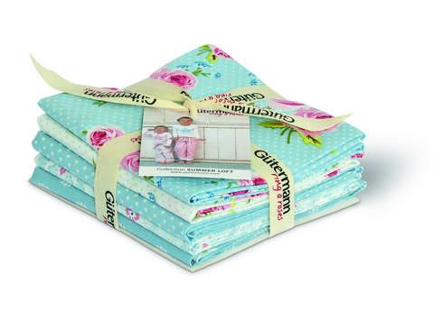 Fat Quarter Bundles von Gütermann creativ: Summer Loft - col.2 blau/weiß kaufen im Makerist Materialshop