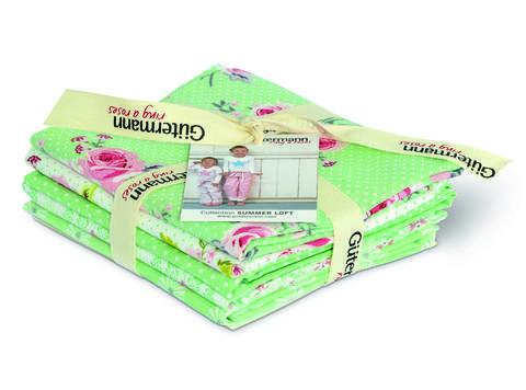 Fat Quarter Bundles von Gütermann creativ: Summer Loft - col.3 grün/weiß kaufen im Makerist Materialshop