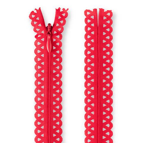 Reißverschluss: Love deko nicht teilbar von Prym - rot 20 cm kaufen im Makerist Materialshop