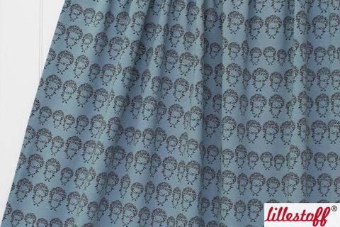 Graublauer Bio-Jersey lillestoff: Igelfamilie - 150 cm kaufen im Makerist Materialshop
