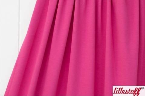 Pinkfarbener Uni Bio-Jersey lillestoff - 150 cm kaufen im Makerist Materialshop