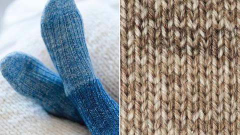 Strickset Socken mit Rippenmuster: Lana Mia One 4 Two - braun kaufen im Makerist Materialshop