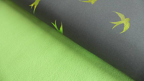 Grau-grüner Softshell Foil Print: Birds - 150 cm kaufen im Makerist Materialshop