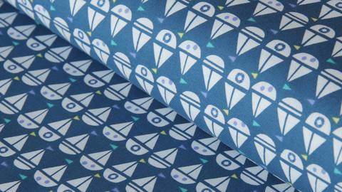 Dunkelblauer Baumwollstoff by Windham Fabrics: Seaside - 112 cm - ARCHIVIERT - kaufen im Makerist Materialshop