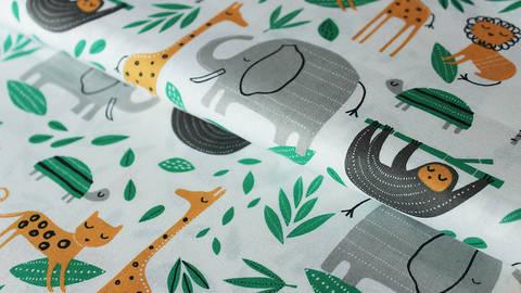 Weiß bedruckter Baumwollstoff by Windham Fabrics: Wild about you - 112 cm kaufen im Makerist Materialshop