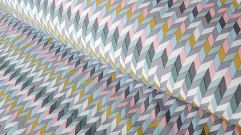 Bunter Pastell Softshell: Groovy Graphic - 144 cm  kaufen im Makerist Materialshop