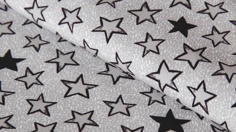 Grauer Softshell: Looking at the stars - 144 cm  kaufen im Makerist Materialshop