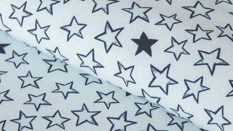 Blauer Softshell: Looking at the stars - 144 cm  kaufen im Makerist Materialshop