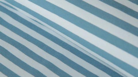 Blau-petrolfarbener Ringel-Jersey: dicke Streifen - 165 cm kaufen im Makerist Materialshop