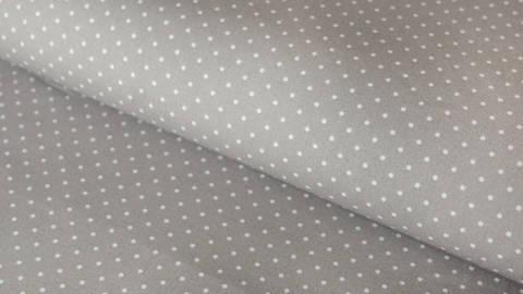 Taupe-weiß bedruckter Baumwollstoff: Dots - 150 cm kaufen im Makerist Materialshop