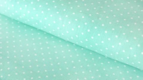 Mint-weiß bedruckter Baumwollstoff: Dots - 150 cm kaufen im Makerist Materialshop