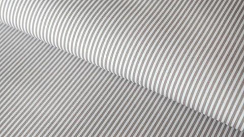 Acheter Coton Taupe et blanc à rayures - 150 cm  dans la mercerie Makerist