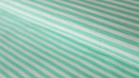 Mint-weiß bedruckter Baumwollstoff: Stripes - 150 cm kaufen im Makerist Materialshop