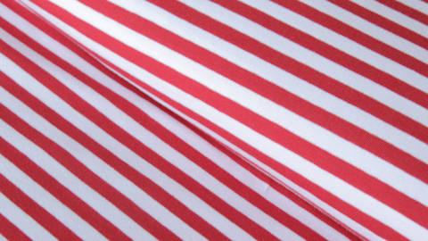 Rot-weiß gestreifter Jersey: Spandex Stripes dick - 165 cm  kaufen im Makerist Materialshop