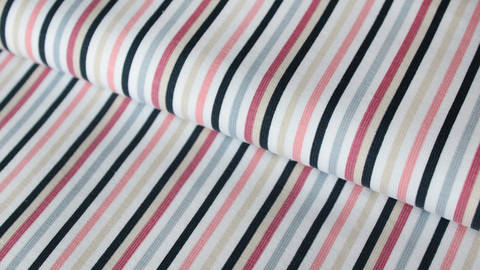 Rosa gestreifter Jersey: Stripes - 150 cm kaufen im Makerist Materialshop