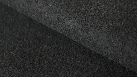 Schwarzer Uni Walkstoff: Boiled Wool - 145 cm kaufen im Makerist Materialshop