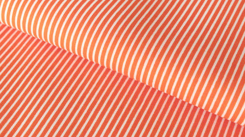 Orange-weißer Baumwollstoff: Stripes - 150 cm kaufen im Makerist Materialshop