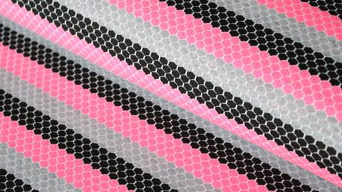 Rosa-schwarz gestreifter Jersey: Sportswear - 160 cm kaufen im Makerist Materialshop