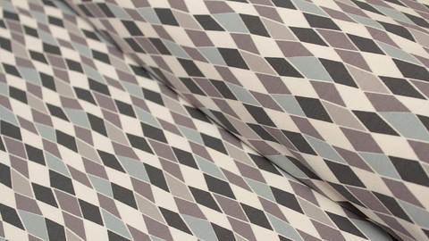 Baumwolljersey creme bedruckt: Avalana Rauten - 162 cm  kaufen im Makerist Materialshop