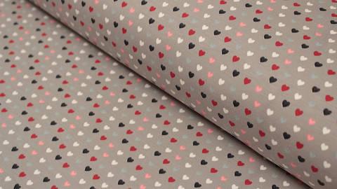 Acheter Jersey en coton gris imprimé: Coeur Avalana - 162 cm dans la mercerie Makerist