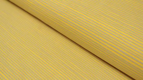 Gelb-grauer Avalana Streifenjersey - 162 cm kaufen im Makerist Materialshop