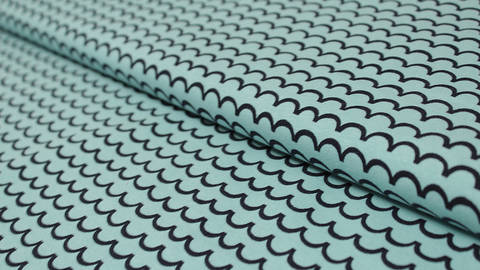 Türkiser bedruckter Jersey: Avalana Wellen kaufen im Makerist Materialshop