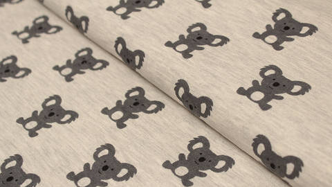 Grau melierter Sweatstoff : Avalana Koala - 150 cm kaufen im Makerist Materialshop