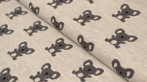 Sweatstoff grau meliert: Avalana Koala - 150 cm kaufen im Makerist Materialshop